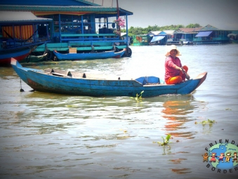 A Khmer woman at the floating village of Kampong P'lu