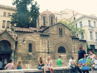 Athenians enjoying a sunny day in Athens, Greece