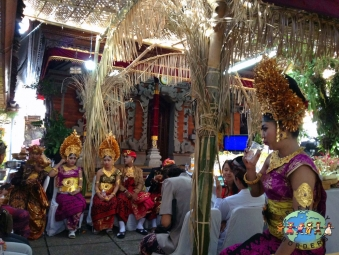 Balinese celebrate during the Ogoh-ogoh parade