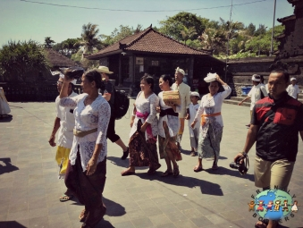 Balinese people in the city of Tabanan in Bali