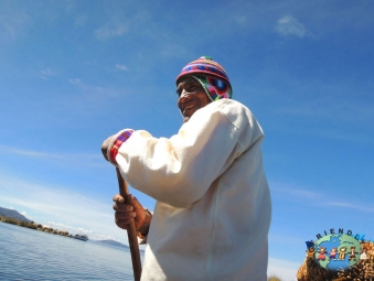 Boatman of Uros Island