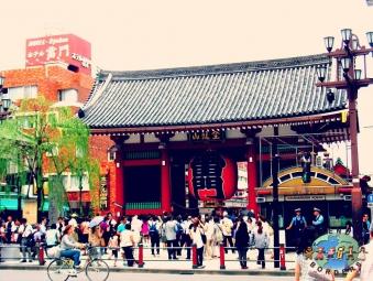 Japanese visit the Buddhist Senso-ji Temple (Asakusa Kannon Temple) in Tokyo