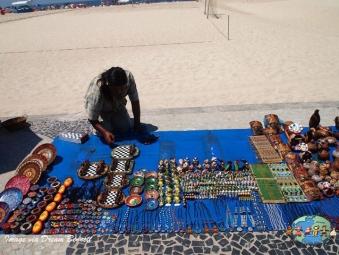 Local vendor in Copacobana beach