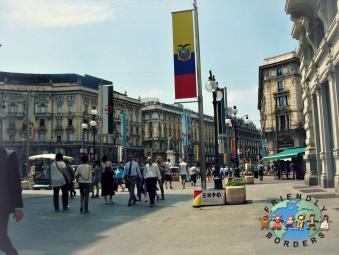 Milanese walk to work near Piazza del Duomo, Milan