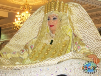 Moroccan bride in a trditional Fes wedding dress