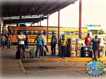 Nicaraguan people at the bus station in Managua