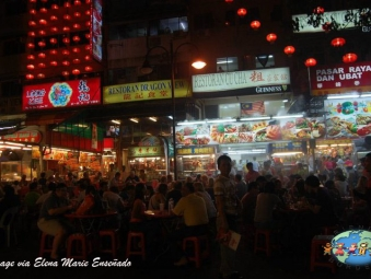 People Feast on Foods in Kuala Lumpur