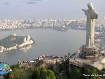 People Visit Cristo Redentor, Brazil