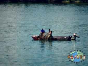 Serbian fisherman on the Danube River in Belgrade
