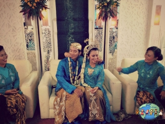 Sundanese couple during wedding ceremony in Garut, West Java Province of Indonesia